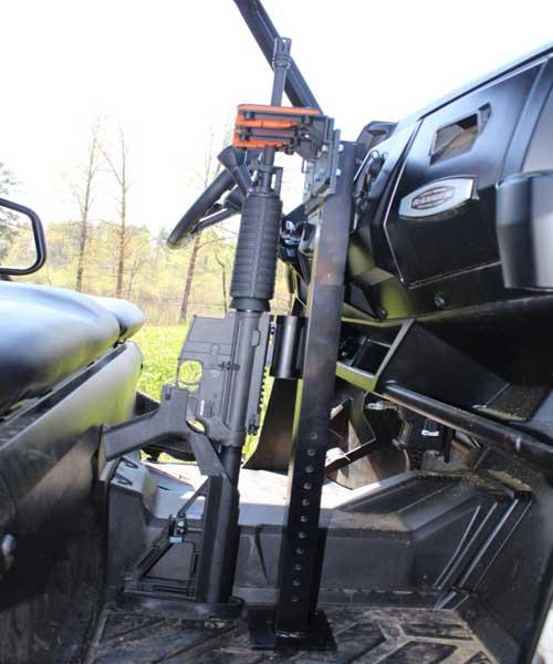 525UF Universal Floor Mount Gun Rack Holding AR15