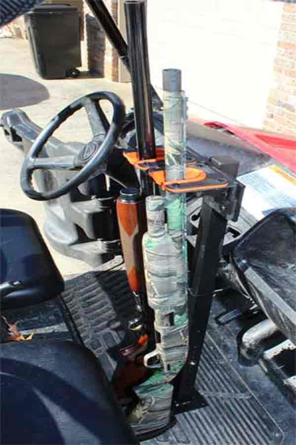 525UF Universal Floor Mount Double UTV GUN RACK
